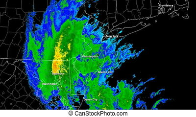 Hurricane Sandy (2012) Landfall - Hurricane Sandy Doppler...