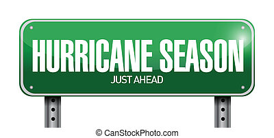 hurricane season just ahead road illustration design over a ...