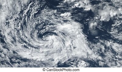 Hurricane Storm tornado, satellite view. Some elements of...