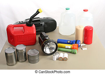 Hurricane Supplies - A collection of items necessary to...