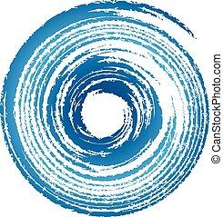 Hurricane, twister, tornado logo