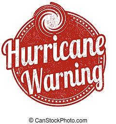 Hurricane warning grunge rubber stamp