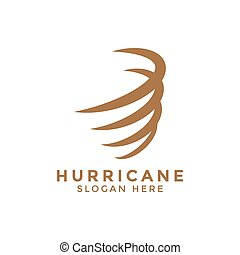 Hurricane whirlwind logo icon design template vector