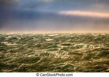 hurricane winds in the Arctic ocean