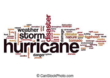 Hurricane word cloud