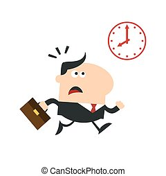 Hurried Manager Running