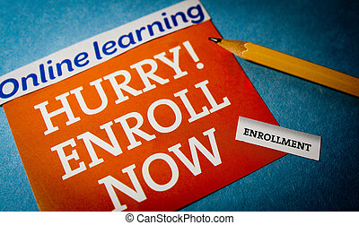 Hurry online learning enroll now with a pencil