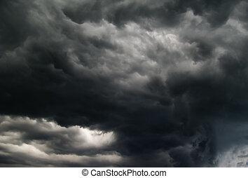 Hurry up, a tornado!!! - Breathtakink gray clouds.