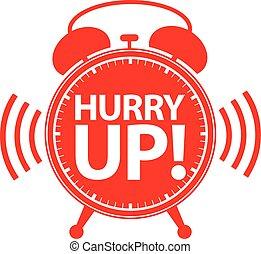 Hurry up alarm clock icon, vector illustration