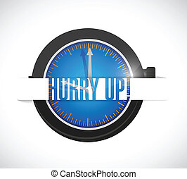 hurry up illustration design
