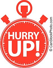 Hurry up stopwatch icon, vector illustration