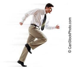 Hurrying man