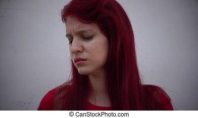 Hurt And Lonely Female Teen