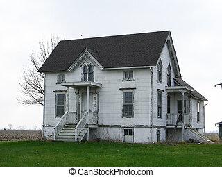 hus, övergiven