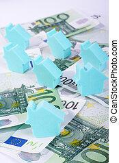 hus, bakgrund, pengar