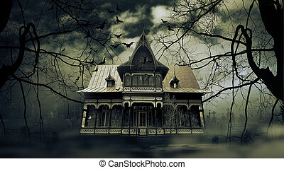 hus, besatt