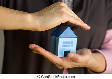 hus, beskytte