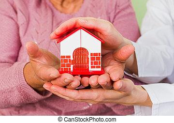 hus, beskytte, din