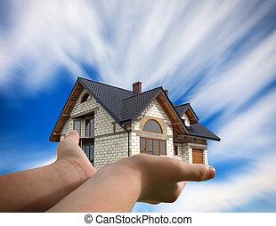 hus, din, hand