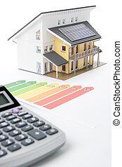 hus, energi, effektivitet, tjalla