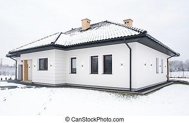 hus, ensam släkt