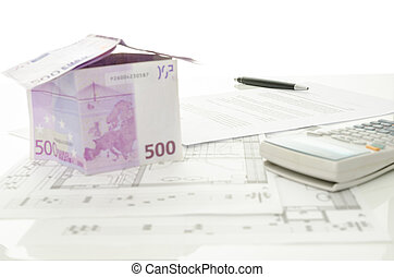 hus, euro, gjord, avtal, pengar, försäljning