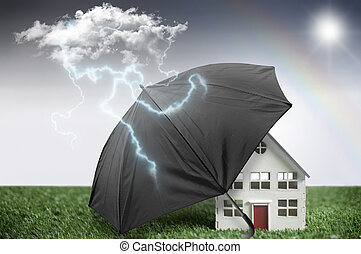 hus, forsikring, beskyttelse