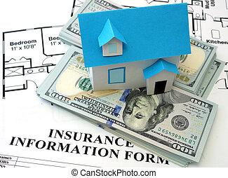 hus, forsikring, form