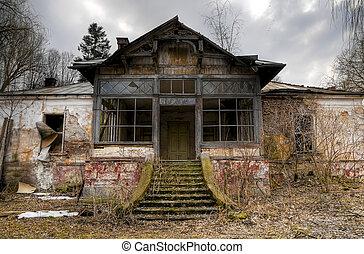 hus, gammal