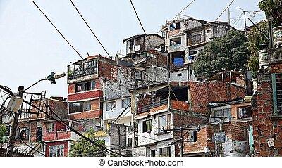 hus, grannskap, columbian