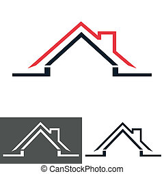 hus, hjem, logo, ikon