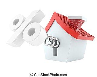 hus, hos, cents per, symbol