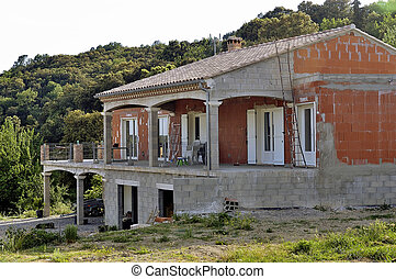 hus, in, konstruktion