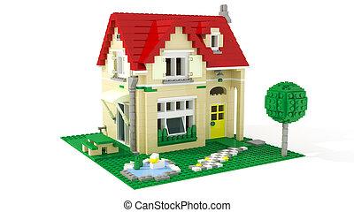 hus, kvarter