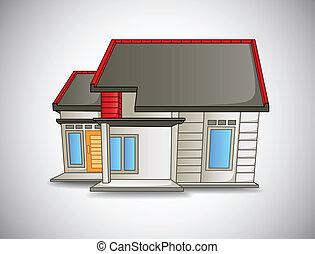 hus, liten