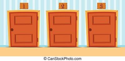 hus numererar, dörrar