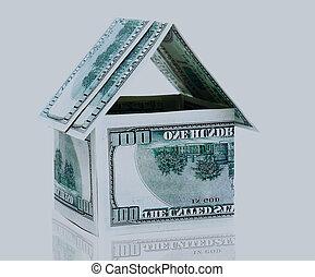 hus, pengar.