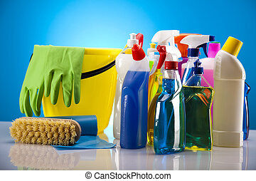 hus, produkt, rensning