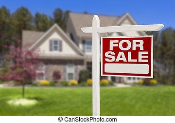 hus, realisation signera, färsk, främre del, hem