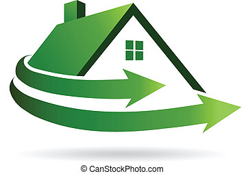 hus, renovation, image., vektor, ikon