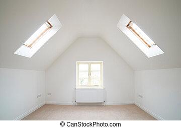 hus, rum, tom, färsk