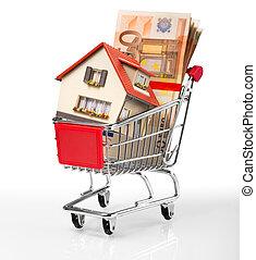 hus, shopping-cart