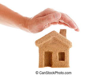 hus, skydda, din