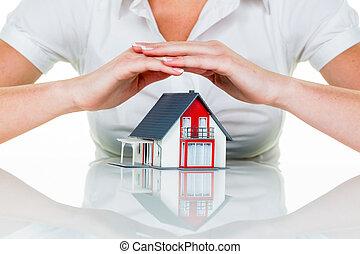 hus, skyddad