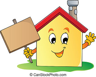 hus, tema, 2, avbild