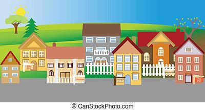 hus, till salu, och, utmätning