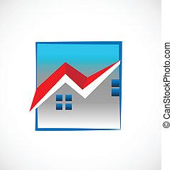 hus, verkligt gods, logo
