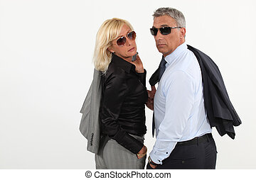 Husband and wife hitting the town