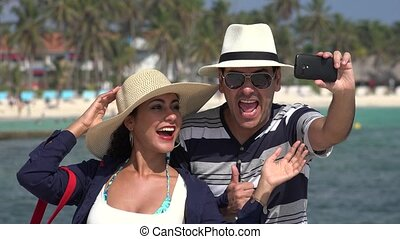 Husband And Wife Selfie On Vacation