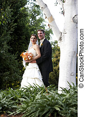 Husband and wife - wedding series - Wedding bride and her...